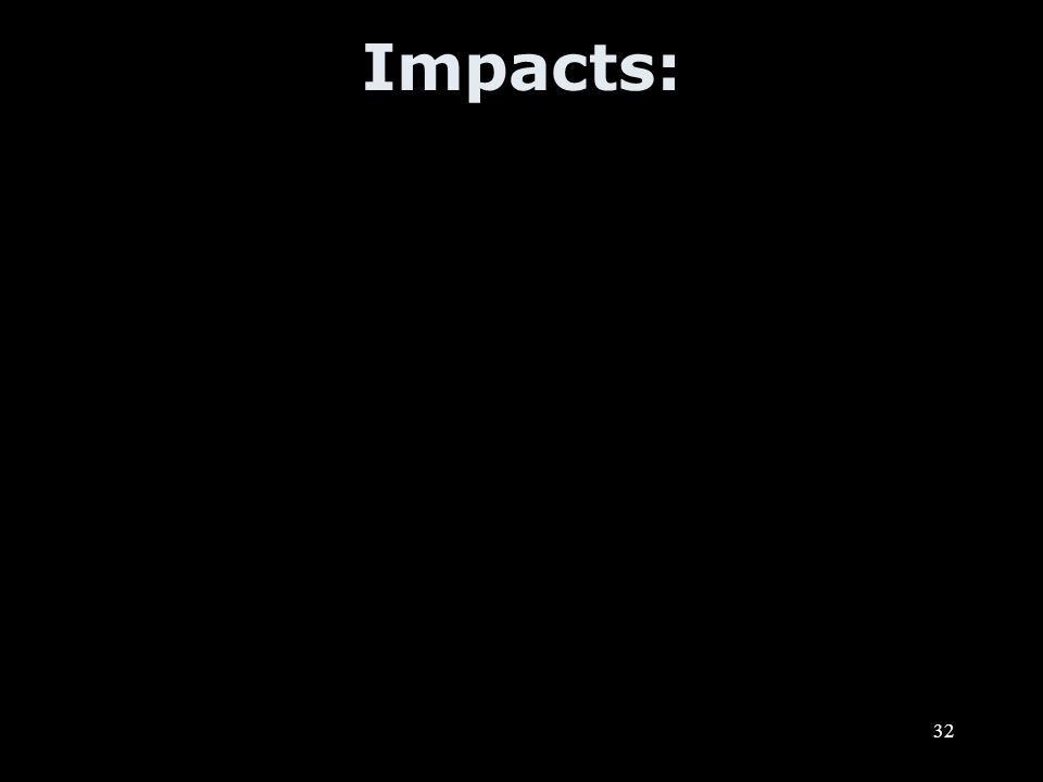 32 Impacts: