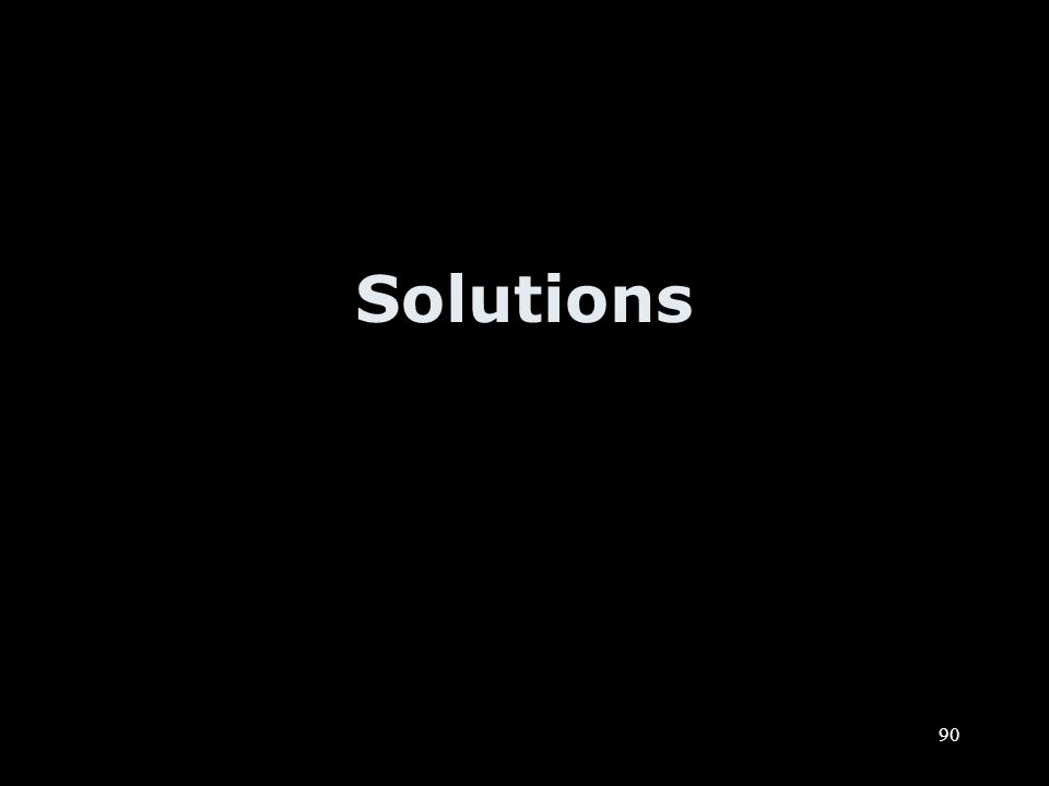 90 Solutions
