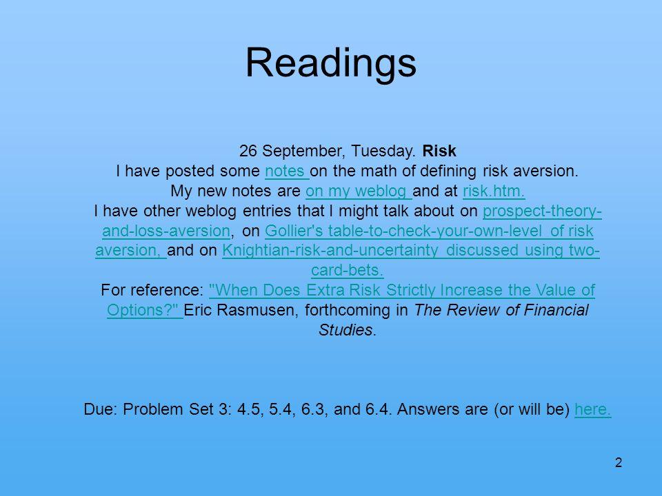 2 Readings 26 September, Tuesday.