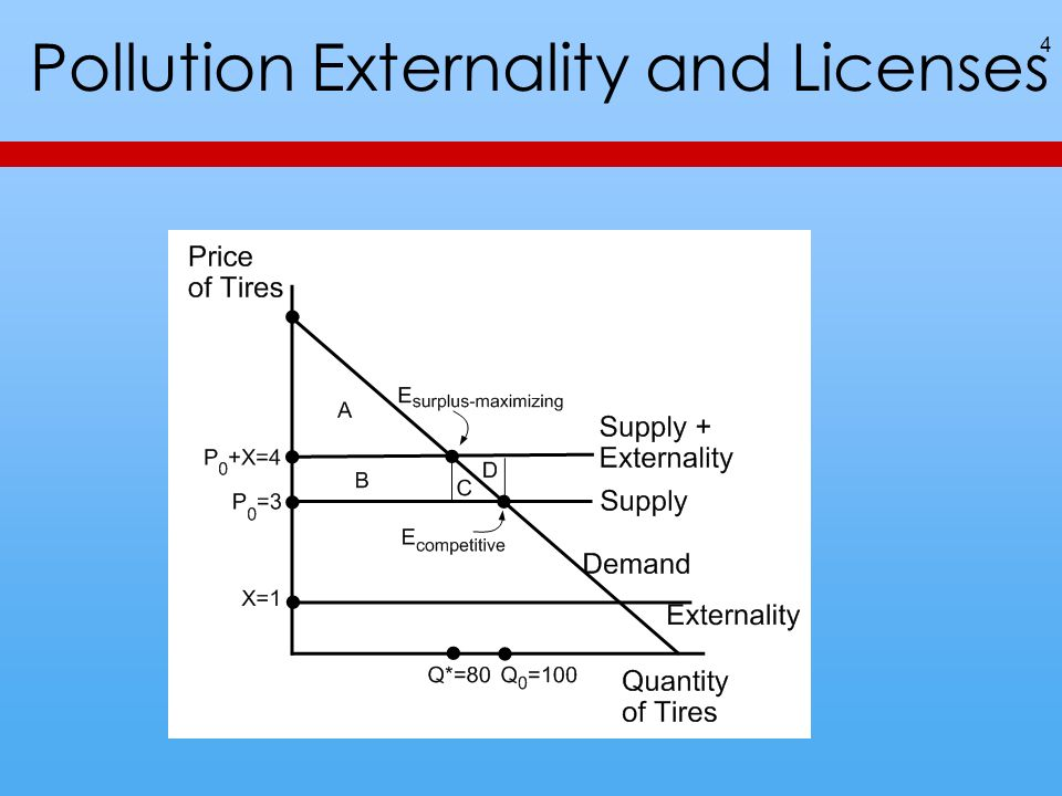 Pollution Externality and Licenses 4