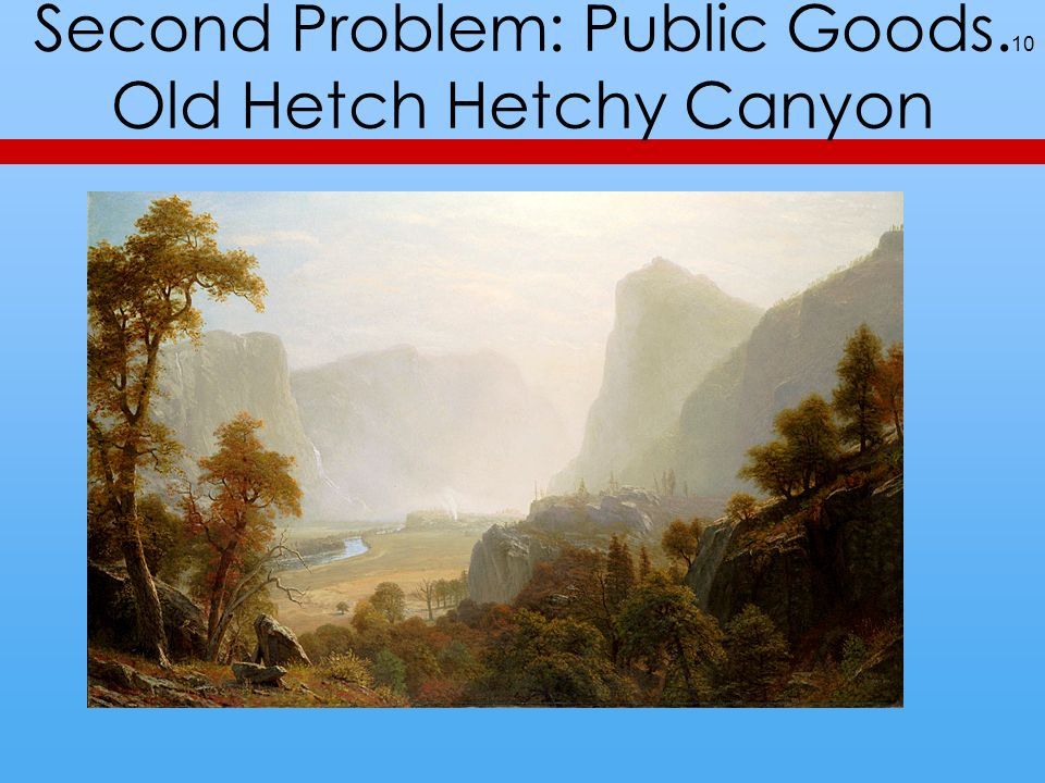 Second Problem: Public Goods. Old Hetch Hetchy Canyon 10