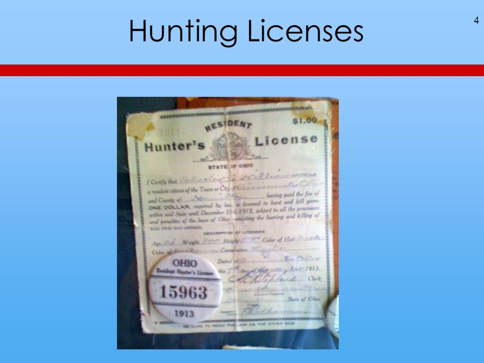 Hunting Licenses 4