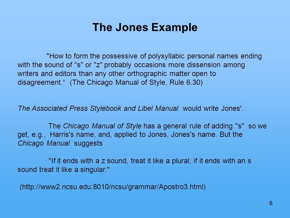 6 The Jones Example