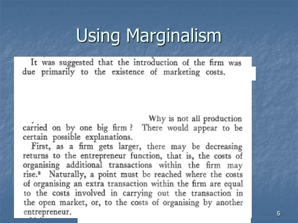 5 Using Marginalism