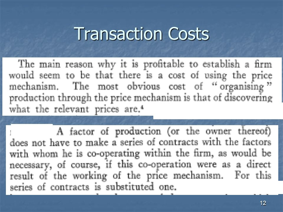 12 Transaction Costs