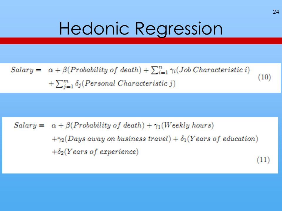 Hedonic Regression 24