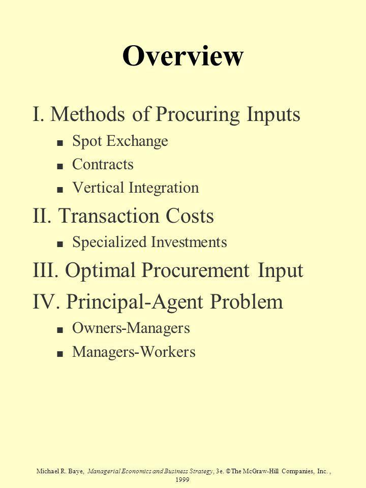 Michael R.Baye, Managerial Economics and Business Strategy, 3e.