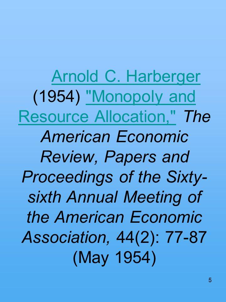 5 Arnold C. Harberger (1954)