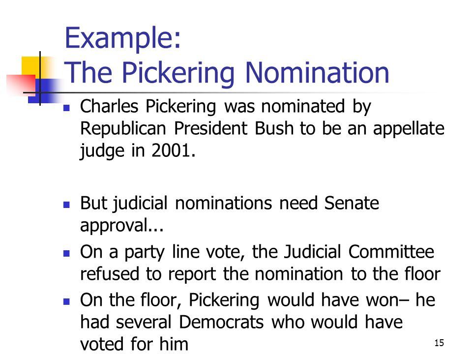 14 What Happened 1998: Senators Lott and Nickles block legislation from coming to Senate floor. 7/99: Senate passes bill with Nickles Amendment by 53-