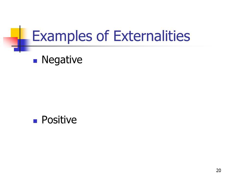 20 Examples of Externalities Negative Positive