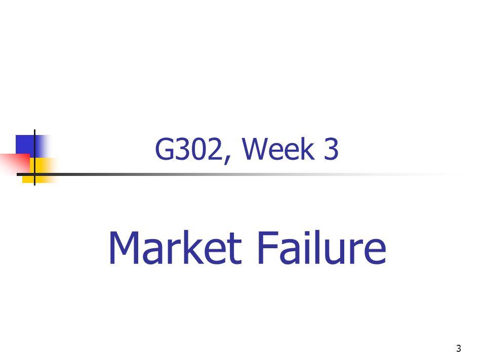 3 G302, Week 3 Market Failure