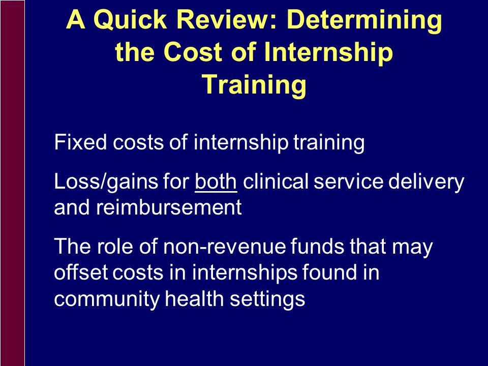 The Challenge: Quality Internship Training Costs Money