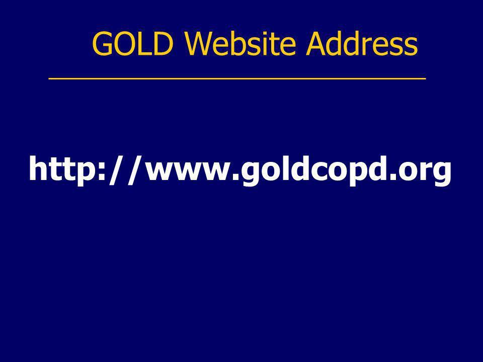 GOLD Website Address http://www.goldcopd.org