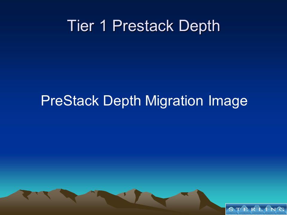 Tier 1 Prestack Depth PreStack Depth Migration Image
