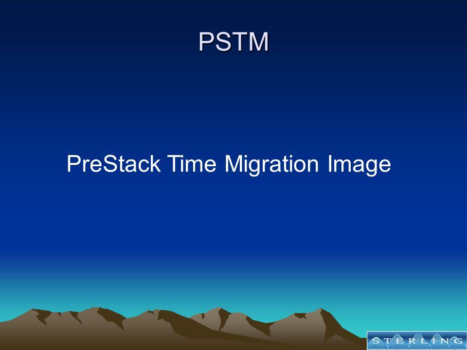 PSTM PreStack Time Migration Image