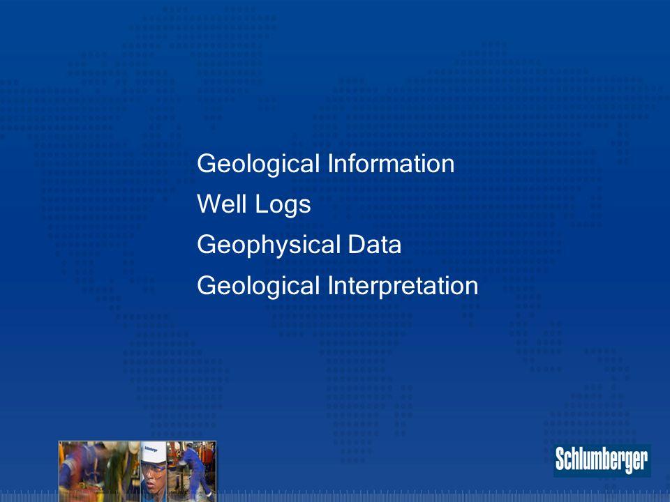 Geological Information Well Logs Geophysical Data Geological Interpretation