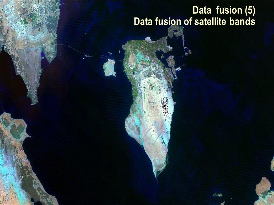 SEG Data Fusion Workshop Vancouver 2007 / 16 Data fusion (5) Data fusion of satellite bands