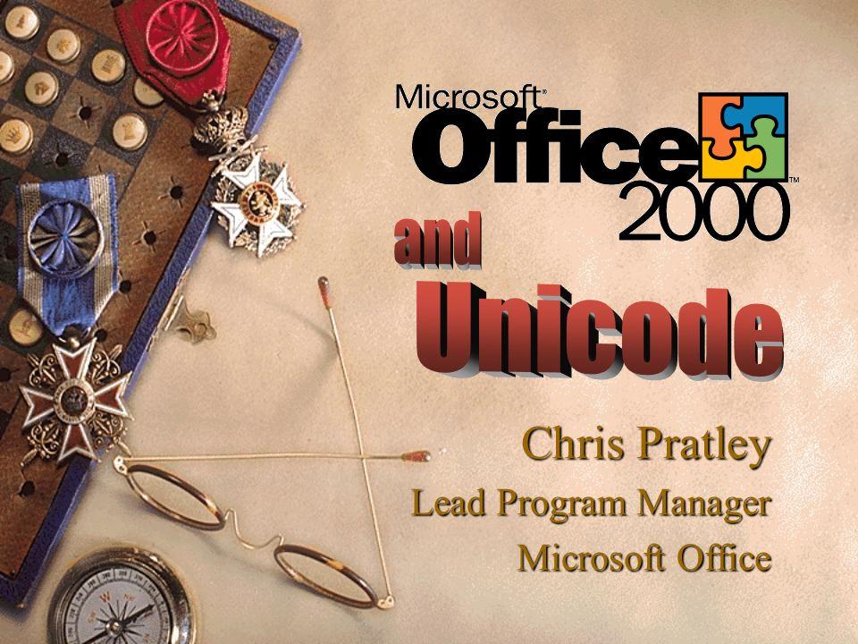 Chris Pratley Lead Program Manager Microsoft Office