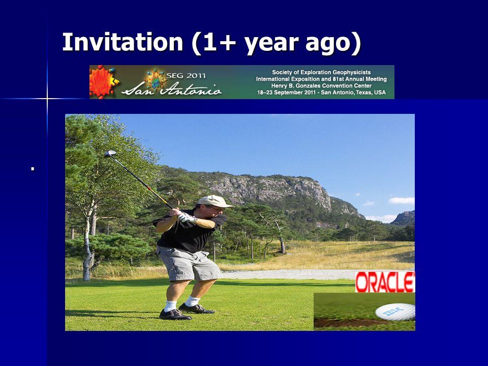 Invitation (1+ year ago).