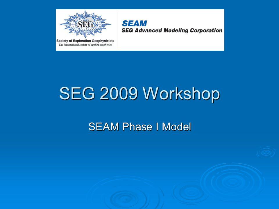 SEG 2009 Workshop SEAM Phase I Model