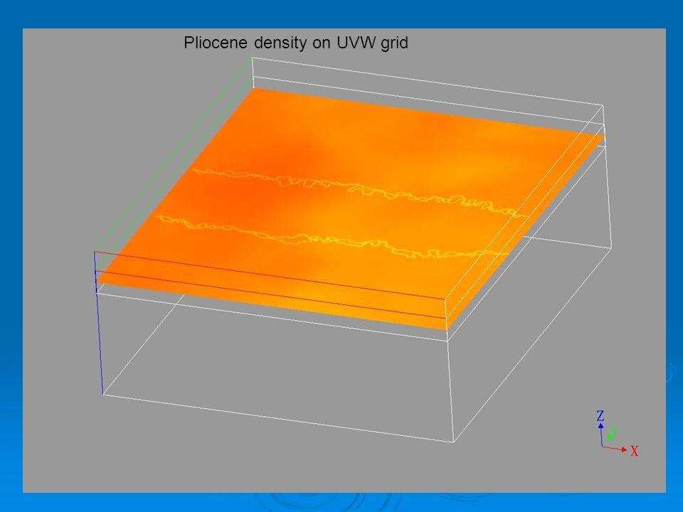 Pliocene density on UVW grid