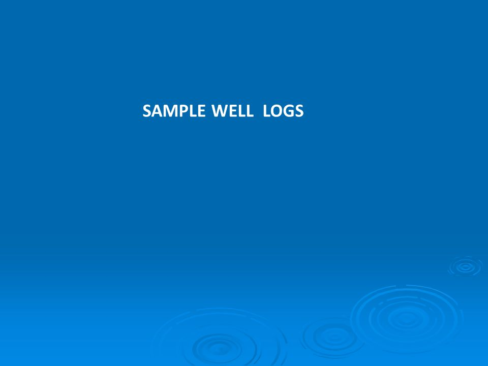 SAMPLE WELL LOGS