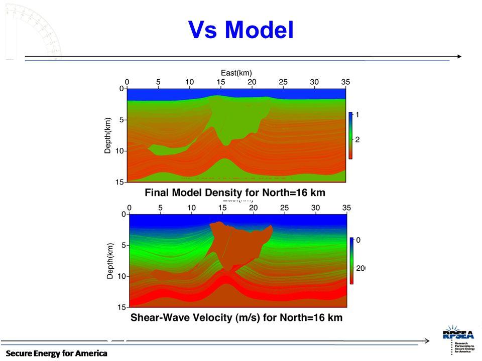 Vs Model ~ 11 km long by ~3 km wide