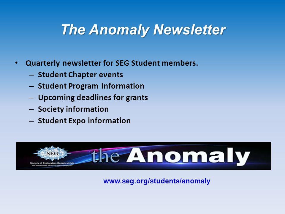 Quarterly newsletter for SEG Student members.