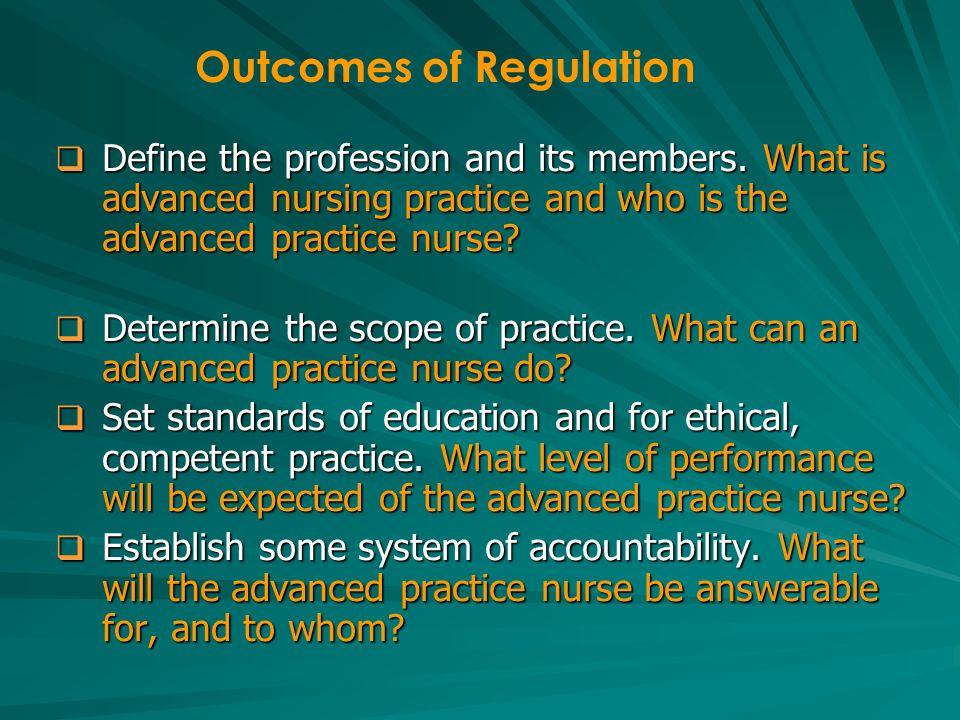 What Regulatory System?