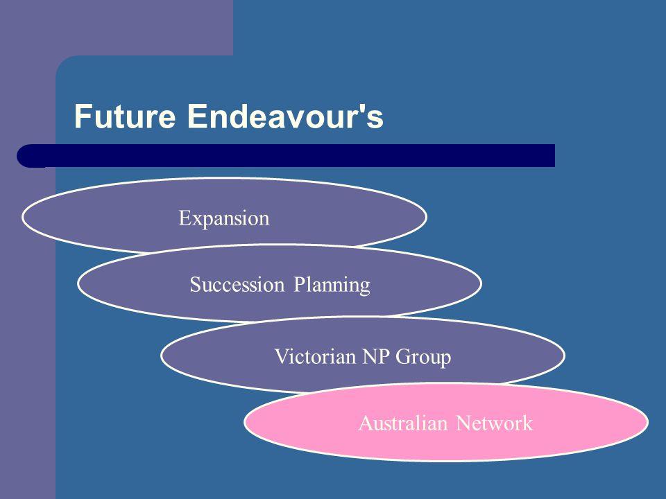 Future Endeavour s Expansion Succession Planning Victorian NP Group Australian Network