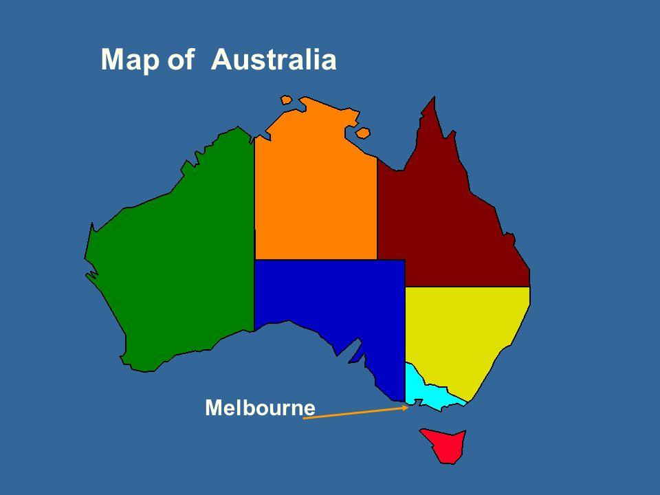 Map of Australia Melbourne