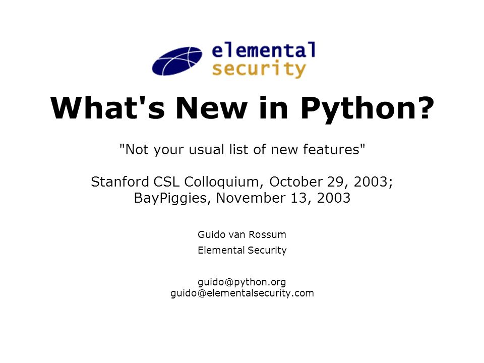 What s New in Python.