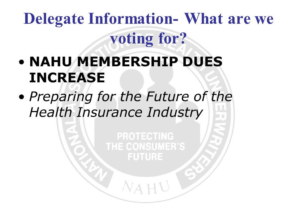 Delegate Information- What are we voting for.