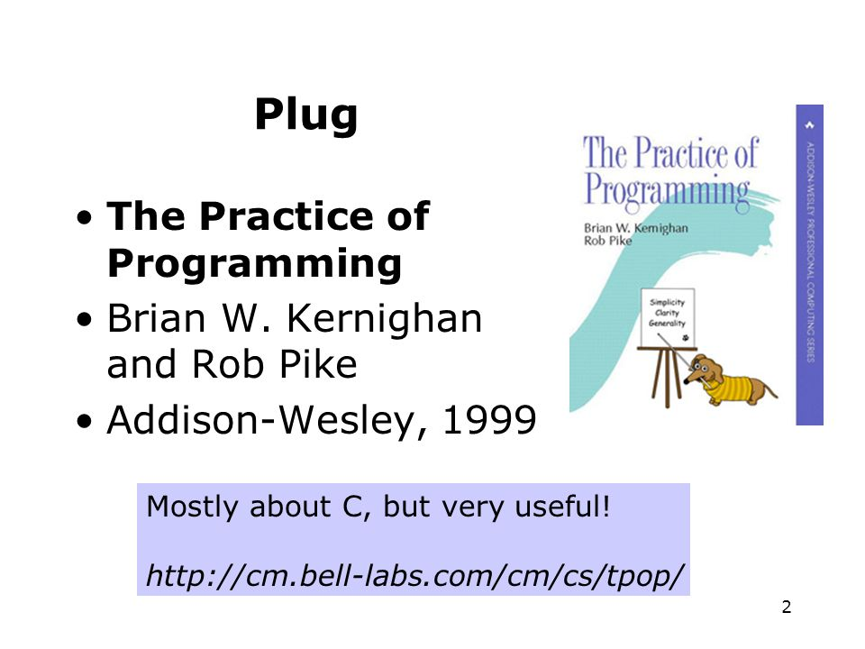 2 Plug The Practice of Programming Brian W.