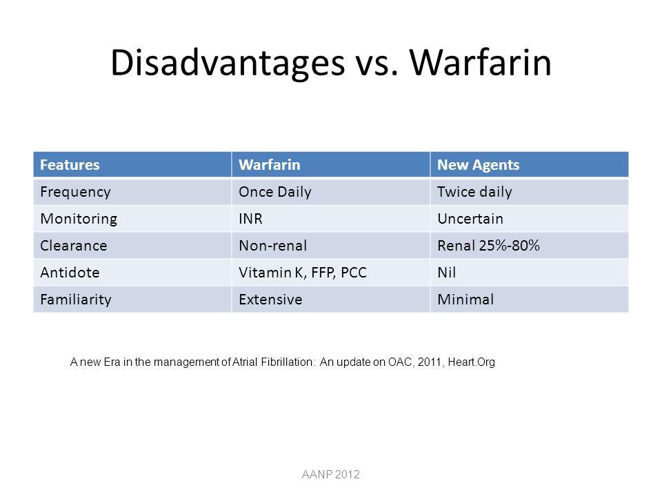 Disadvantages vs.