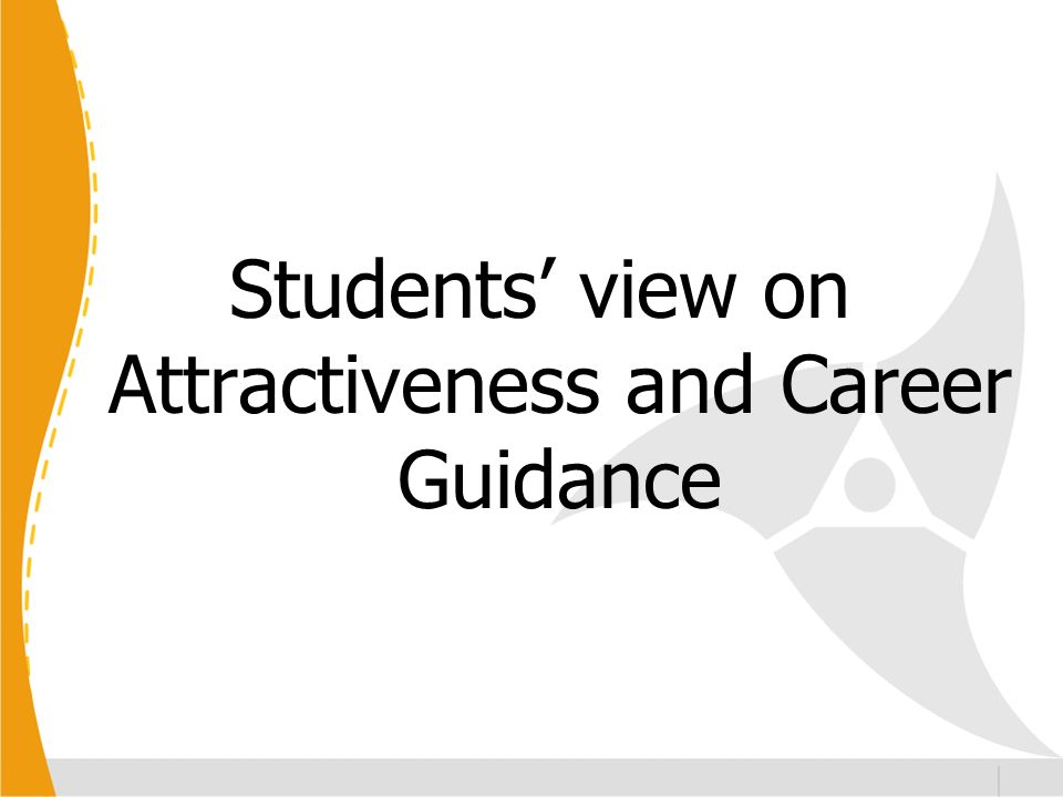 Students view on Attractiveness and Career Guidance