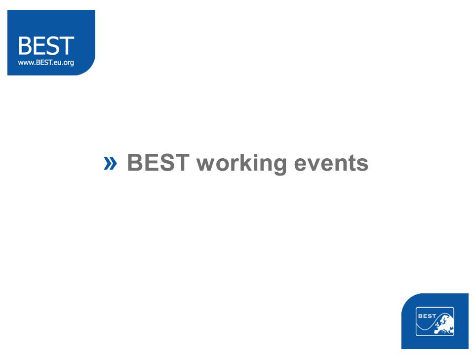 » BEST working events