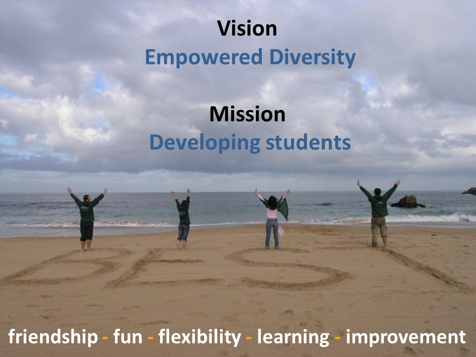 Vision Empowered Diversity Mission Developing students friendship - fun - flexibility - learning - improvement