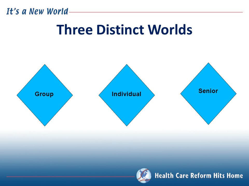 GroupIndividual Senior Three Distinct Worlds