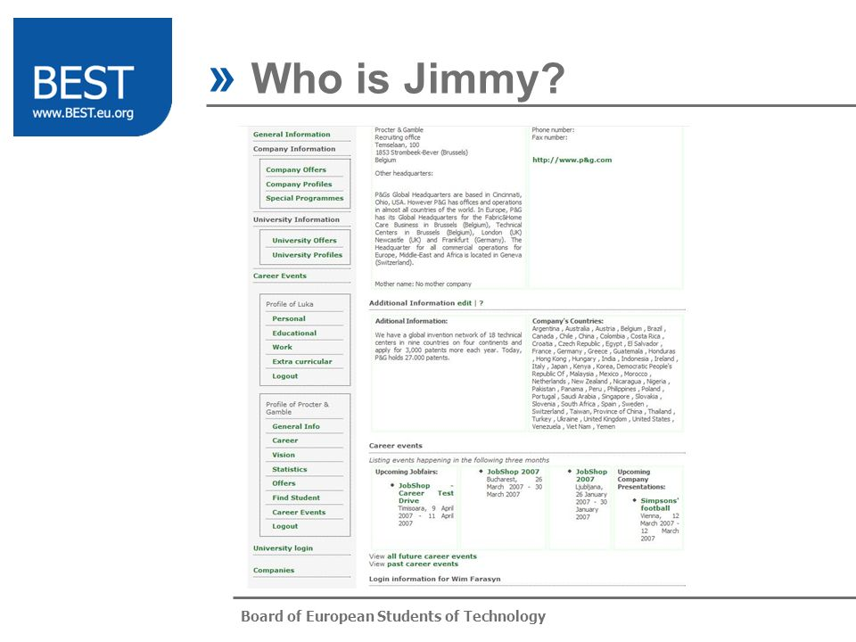 Board of European Students of Technology » Who is Jimmy