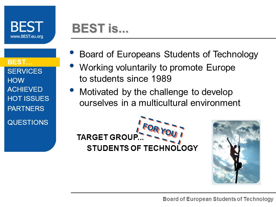 Board of European Students of Technology BEST is...