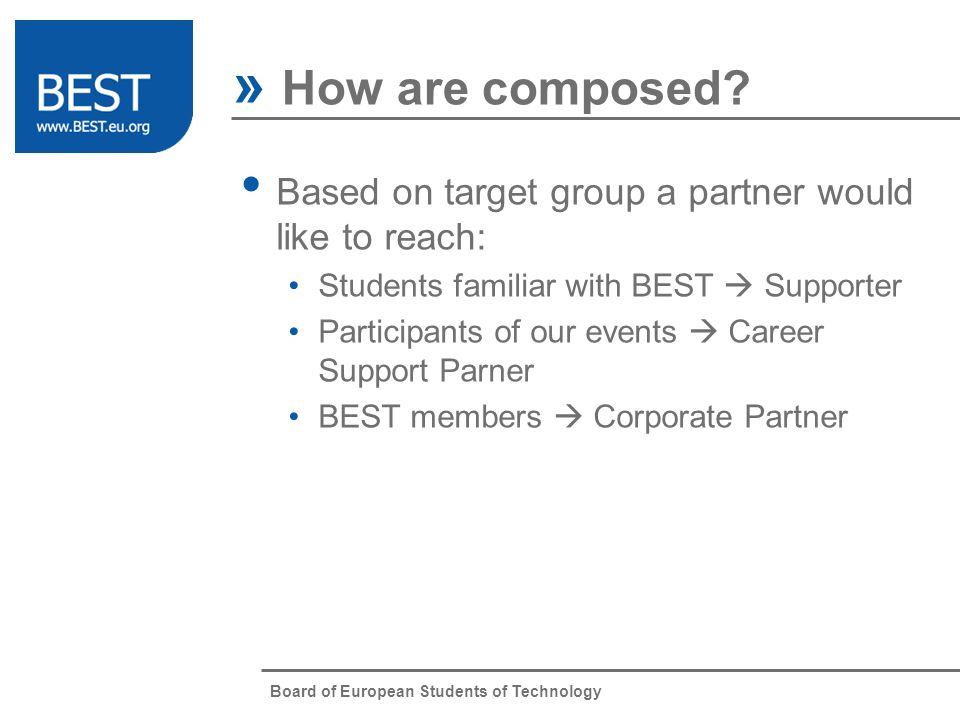 Board of European Students of Technology » How are composed.