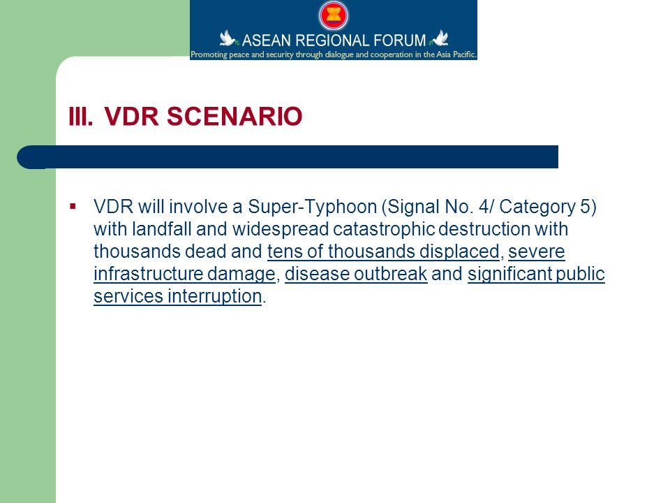 VDR will involve a Super-Typhoon (Signal No.