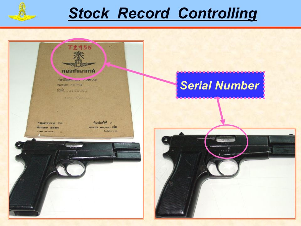 Stock Record Controlling Serial Number