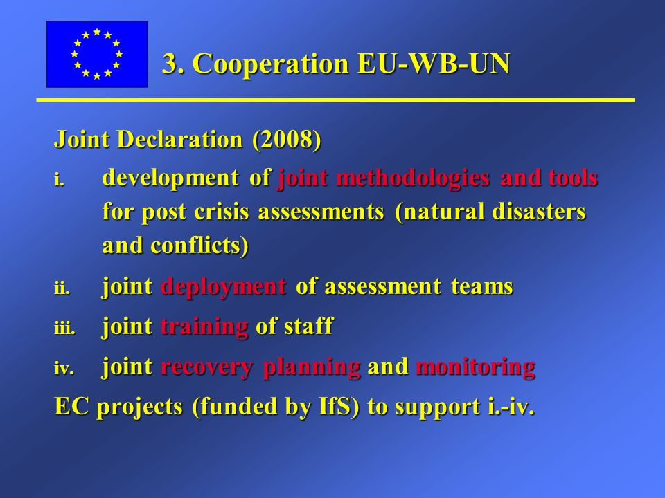 Joint Declaration (2008) i.