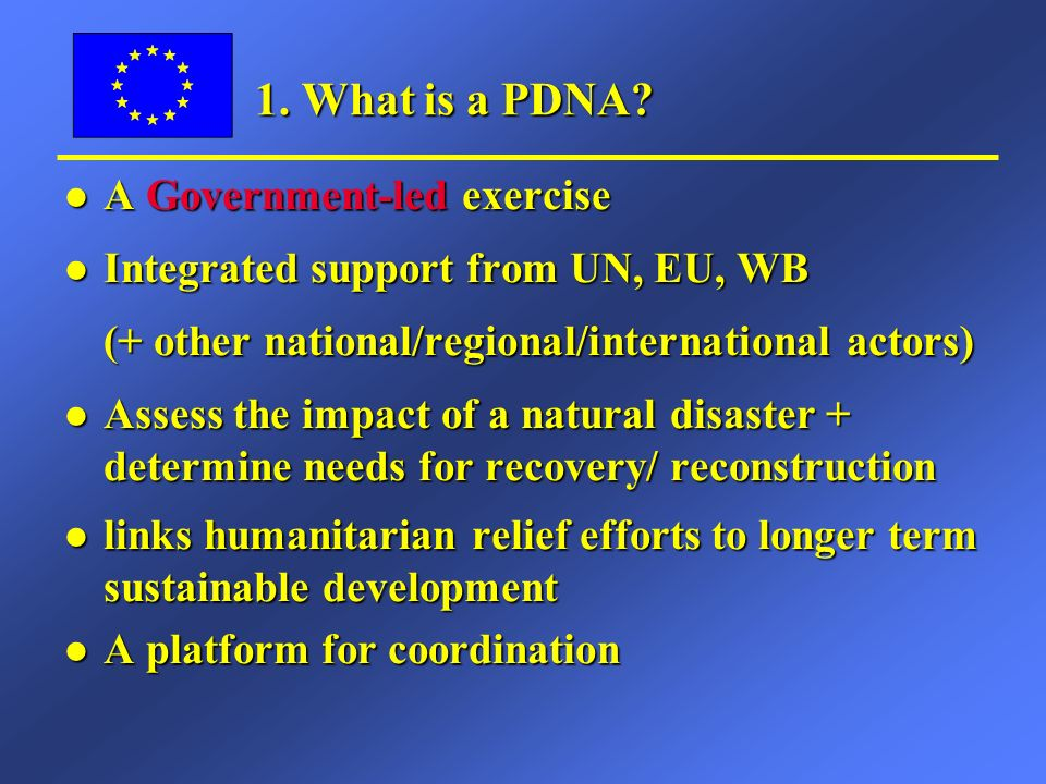 PDNA – how initiated.