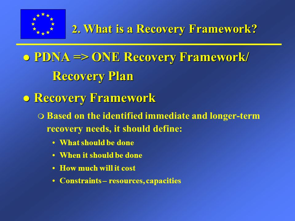 2.What is a Recovery Framework.