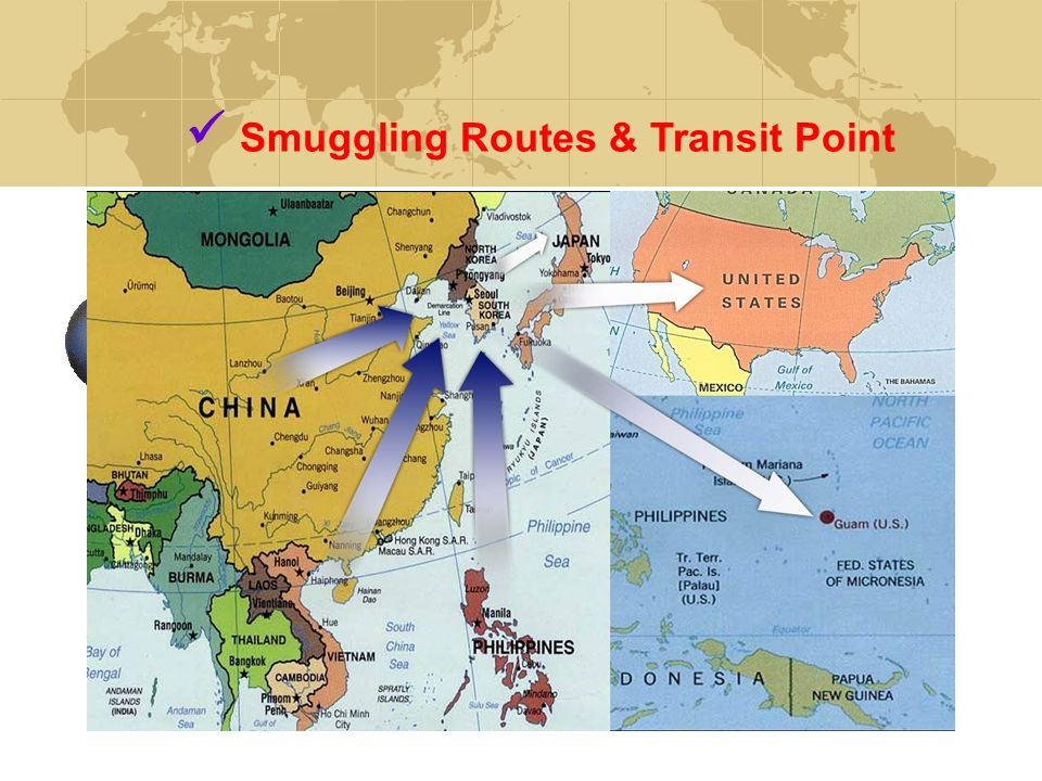Smuggling Routes & Transit Point