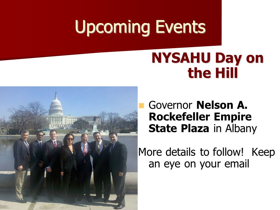 Visit us on the web www.nysahu.org Updated weekly with key legislative information