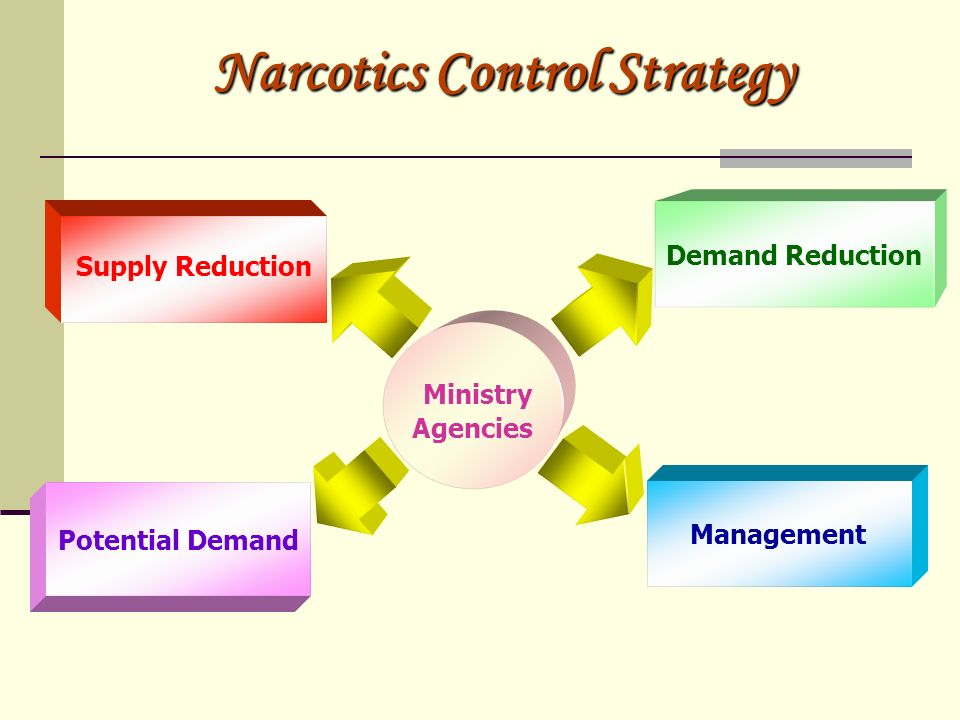 Narcotics Control Strategy Supply Reduction Demand Reduction Potential Demand Management Ministry Agencies
